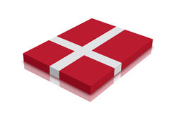 Denmark Flag. 3d Render with reflection royalty free illustration