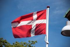 denmark flagę Zdjęcie Royalty Free