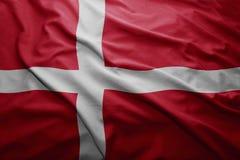 denmark flagę Zdjęcie Stock