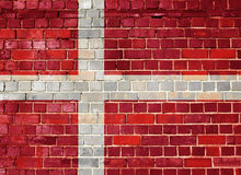 Denmark flag on a brick wall Stock Image