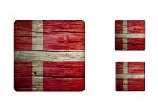 Denmark Flag Buttons Stock Photo