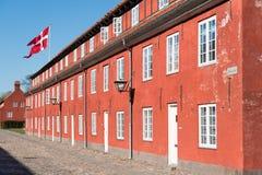 Denmark flag, Copenhagen Stock Image