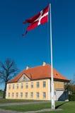 Denmark flag, Copenhagen Stock Photos