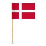 Denmark Flag. Flag toothpick 10eps Royalty Free Stock Photography