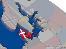 Denmark with flag Stock Photography