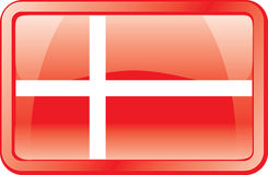 Denmark Flag Icon Royalty Free Stock Images