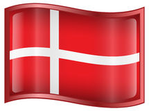 Denmark Flag icon Royalty Free Stock Image
