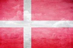 Denmark flag illustration. Denmark flag vintage sky illustration royalty free stock photos