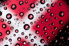 Denmark flag. Reflection of Denmark flag on water droplet Royalty Free Stock Images
