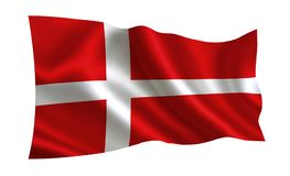 Denmark flag. A series of flags of the world vector illustration