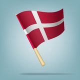 Denmark flag, vector illustration Royalty Free Stock Photo