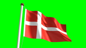 Denmark flag stock video
