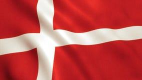 Denmark Flag Waving - Germany Background royalty free stock image