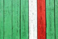 DENMARK flag. On wood door deco wallpaper aged Stock Images