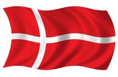 denmark flaga Obrazy Stock