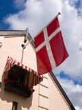 denmark flagga royaltyfria bilder