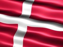 denmark flagga royaltyfri illustrationer