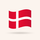 denmark flagga stock illustrationer
