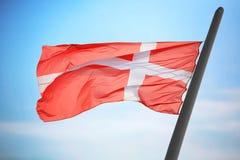 denmark flagga Fotografering för Bildbyråer