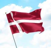 denmark flagga Royaltyfri Fotografi