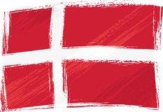 denmark flaggagrunge stock illustrationer