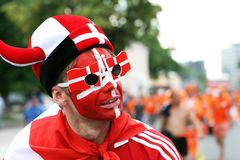 Denmark football fans Royalty Free Stock Images