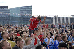 DENMARK_FOOTBALL FANS Royalty Free Stock Images