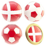 Denmark football team attributes  Royalty Free Stock Image