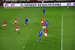 denmark fotboll greece vs Royaltyfria Bilder
