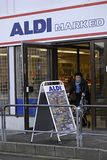DENMARK_GERMANY ALDI CHAIN FOOD MARKET Stock Photo