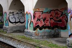 DENMARK_GRAFFITI ΩΣ ΤΕΧΝΗ Η VANDALISIM Στοκ Εικόνες