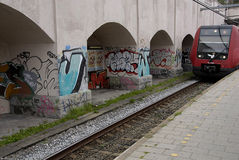 DENMARK_GRAFFITI COMME ART OU VANDALISIM Image libre de droits