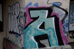 DENMARK_GRAFFITI COMO A ARTE OU O VANDALISIM Fotos de Stock Royalty Free
