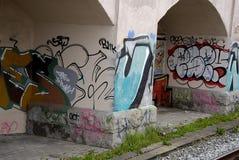 DENMARK_GRAFFITI JAKO sztuka LUB VANDALISIM Zdjęcie Royalty Free
