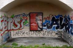 DENMARK_GRAFFITI SOM KONST ELLER VANDALISIM Royaltyfria Bilder