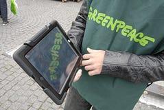 DENMARK_GREENPEACE WORKER Royalty Free Stock Photo