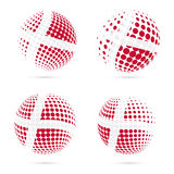 Denmark halftone flag set patriotic vector design. Stock Image