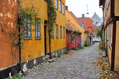 Denmark Helsingor street Royalty Free Stock Photos