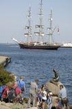DENMARK_HOLIDAY-TILLVERKARE OCH LITEN MERMAIN Royaltyfri Foto