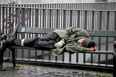 DENMARK_HOMELESS IN DENMARK Royalty Free Stock Photography