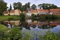 denmark houses nyborg royaltyfri foto