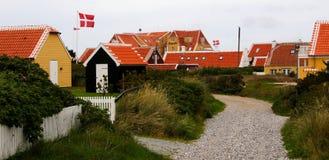 denmark houses skagen fotografering för bildbyråer