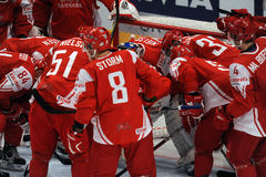 Denmark ice hockey team Stock Image