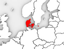 Denmark Illustrated Abstract 3D Map Northern Europe Royalty Free Stock Photos