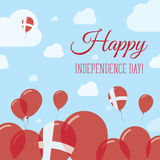 Denmark Independence Day Flat Patriotic Design. Royalty Free Stock Photos