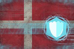 Denmark internet protection. Internet security concept. royalty free illustration