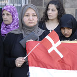 DENMARK_iraqi πιό portest Στοκ φωτογραφίες με δικαίωμα ελεύθερης χρήσης