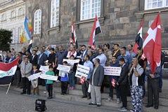 DENMARK_iraqi più portest Fotografia Stock Libera da Diritti