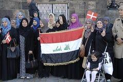 DENMARK_iraqi portest Stockfotografie