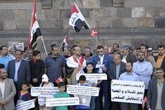 DENMARK_iraqi portest Stock Image
